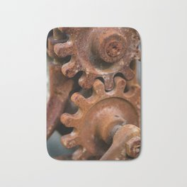 Rusty Gears Bath Mat
