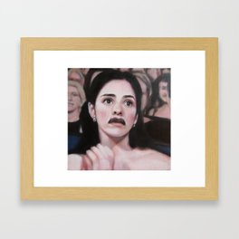 Portrait of Sarah Silverman Framed Art Print