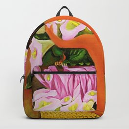 Nude with Calla Lilies by Diego Rivera Backpack