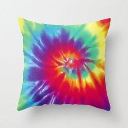 Tie Dye Swirl Pattern Throw Pillow