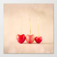 Cherry Heart Goodness Canvas Print