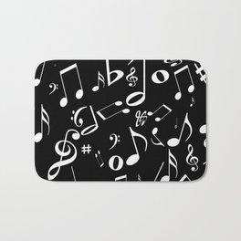 Music in the Air Black Bath Mat