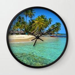 Fall of palmas Wall Clock