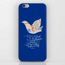 Glory to God -Luke 2:14 iPhone Skin