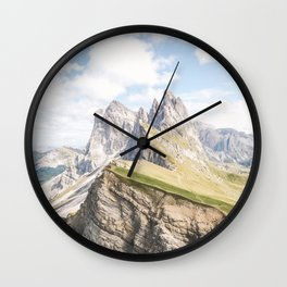 Dolomites XXI [ South Tyrol, Italy ] Amazing mount Seceda⎪Colorful travel photography Poster Wall Clock
