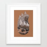 yeti Framed Art Prints featuring Yeti by Jamie Leonard