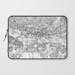 Johannesburg White Map Laptop Sleeve