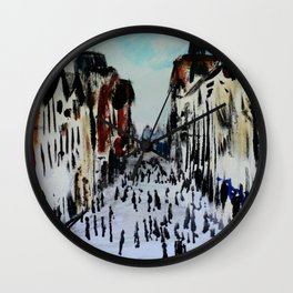 Eastgate Street, Chester, England Impressionist Fine Art Wall Clock