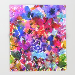 Jelly Bean Wildflowers Throw Blanket