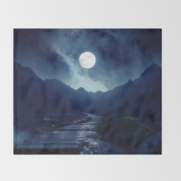 Walk to the Moon Throw Blanket
