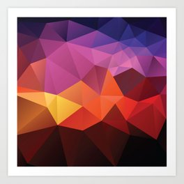 Abstract geometric triangle background Art Print