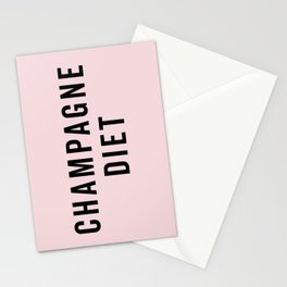 Champagne Diet Funny Quote Stationery Cards
