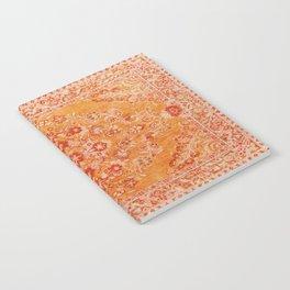 Orange Boho Oriental Vintage Traditional Moroccan Carpet style Design Notebook