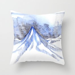 Lonely Blue Mountain Throw Pillow
