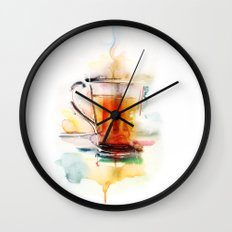 Black tea Wall Clock