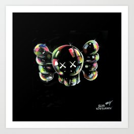 Soap bubbles  4 KAWS Art Print