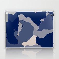 Blue Camo abstract Laptop & iPad Skin