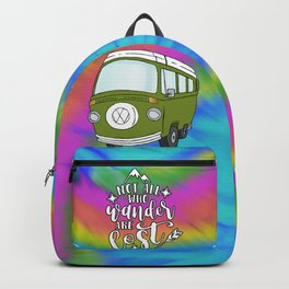 Camper Bus Not All Who Wander Are Lost Backpack