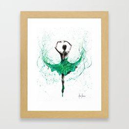 Emerald City Dancer Framed Art Print