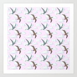 SKY DINOS Art Print