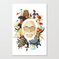 miyazaki Canvas Prints featuring Miyazaki-San by Danny Haas