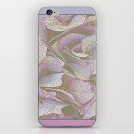 FADED HYDRANGEA CLOSE UP iPhone Skin