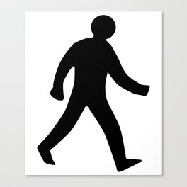 Walking Man Silhouette Canvas Print