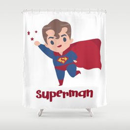 superman shower curtains for any