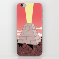 pyramid iPhone & iPod Skins featuring Pyramid by Mike Force