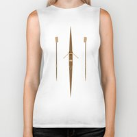 rowing Biker Tanks featuring rowing single scull by zenitt