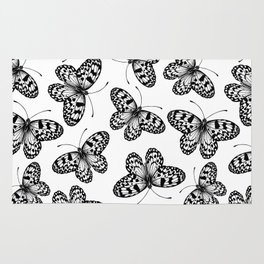 Paper kite butterfly pattern Rug