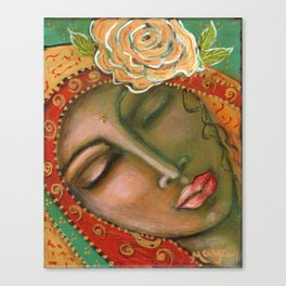 Madonna of the First Breath Canvas Print