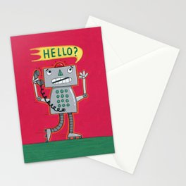 Hello? Robot Stationery Cards
