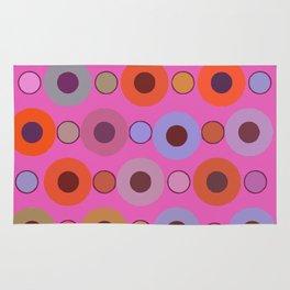 Abstract circle color print Rug