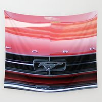 mustang Wall Tapestries featuring Mustang by JJ's Photography