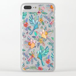 Whimsical Summer Flight Clear iPhone Case