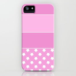 Combined pink pattern iPhone Case
