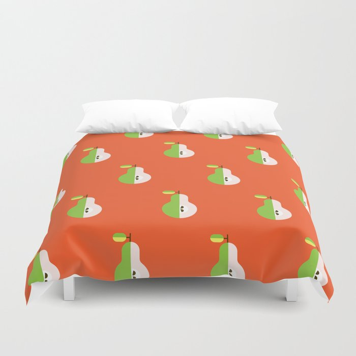 Fruit: Pear Duvet Cover