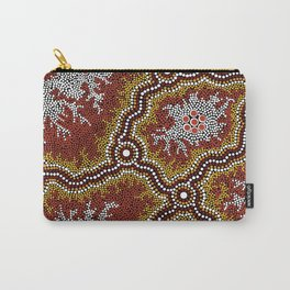 Aboriginal Art Authentic - Mountains Carry-All Pouch