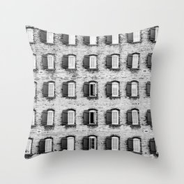 Holes In A Wall Throw Pillow