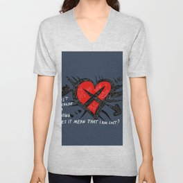 Jut because i'm losing does it mean that i'm lost ? Unisex V-Neck