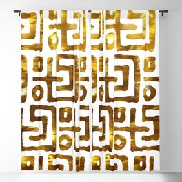 Elegant abstract geometrical gold tribal pattern Blackout Curtain