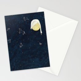 Sleeping on the Moon Stationery Cards