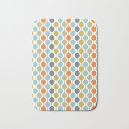 Retro Circles Mid Century Modern Background Bath Mat