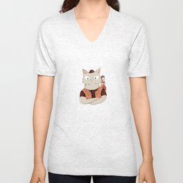 Walter the metal cat Unisex V-Neck