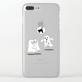 Funny Scary Ghost Story Halloween graphic Clear iPhone Case