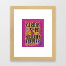 pink surrender Framed Art Print