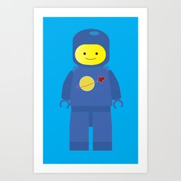 Retro Spaceman Art Print