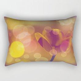 Golden Bubbles N Tulip Rectangular Pillow