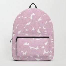 Pink diamonds / Lineart diamonds pattern Backpack